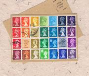 Postal Patchwork Postcard