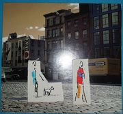 firber art card Gina, photo side
