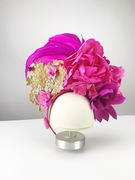Pink and gold headpiece