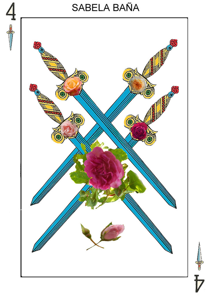 4 espadas realizado por Sabela Baña