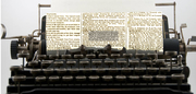 typewriter newspaper copy