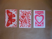 Hand Printed Postcards