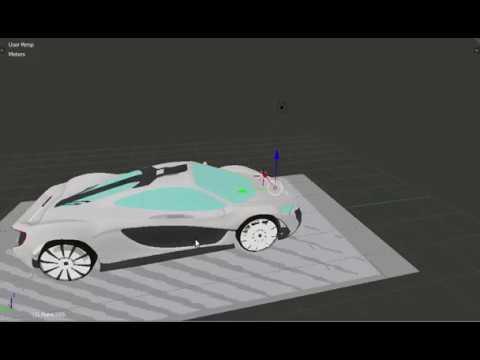 Futuristic car 3D model
