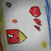 My little daughter  drawing
