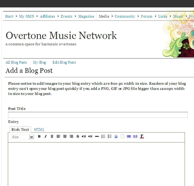 Add a blog post