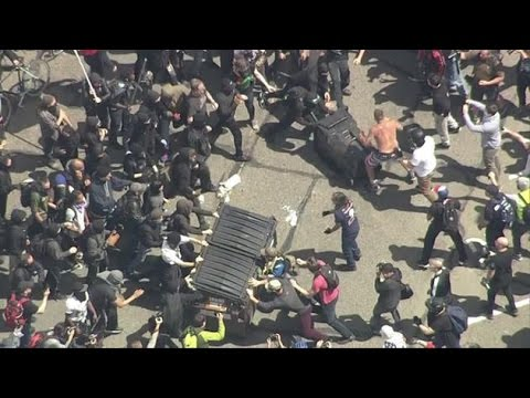 BERKELEY TRUMP RIOTS EXPLODE  4/15/17