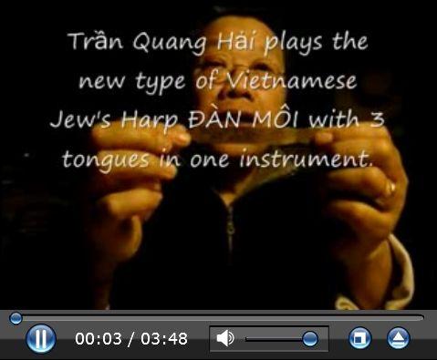 TRAN QUANG HAI plays the new type of Vietnamese Jew's Harp ĐÀN MÔI created by Mr. Thái