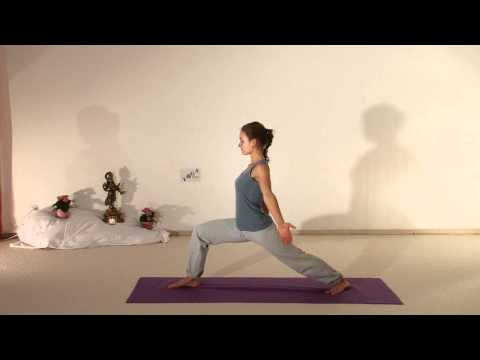 Upward Facing Vira Bhadrasana - Silent Yoga Movie