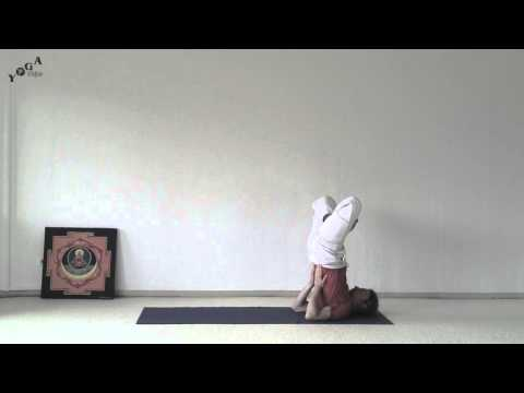 Shoulder Stand in Lotus
