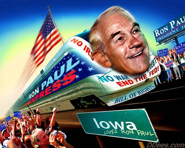 Ron Paul Express - Dees illustrations