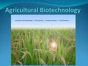 BT403 Agriculture Biotechnology