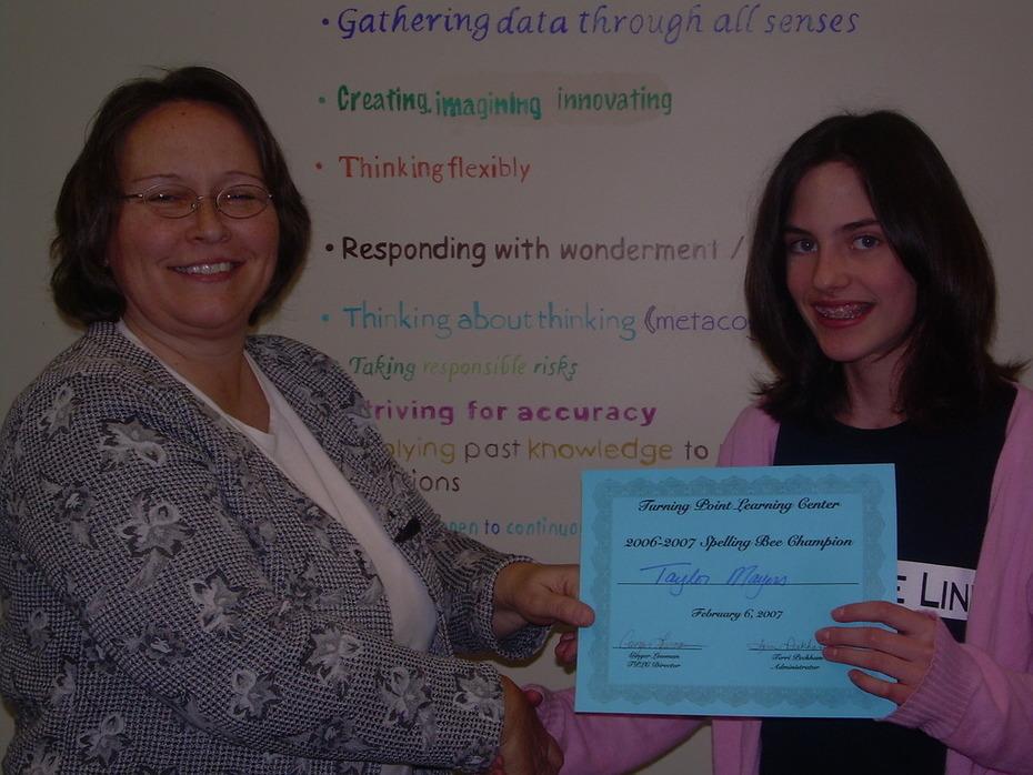 SpellingBee winner!