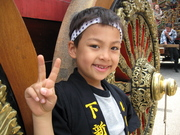 Luke at the Hikiyama festival