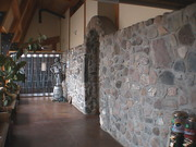 Stone wall in the ecocentre