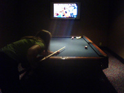 Playing Pool @ Hotel