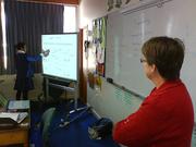 Anne's first Smartboard Lesson