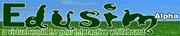 Edusim Logo - Powered by Croquet & Students