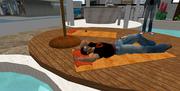 Snoozing at DEN Poolside