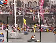 The Great American 3 at the Start of the Vendee Globe