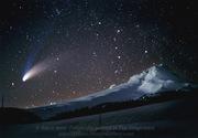 Comet over Mt. Hood