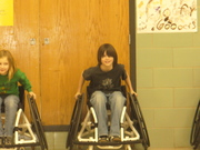 Learning to use a wheelchair