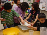 kids making paper