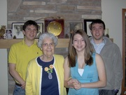 3 evanson kids + Rita