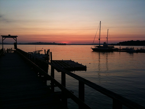 Long Island Maine at Sunset