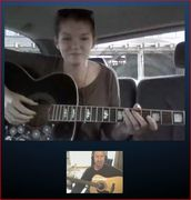 Skype Guitar Lesson on the Go!!!!