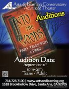 "Arts & Learning Present before You ""Into The Woods"""