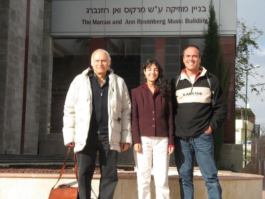 Israel - meeting Eliezer Rapoport,  Dafna Dori, Wolfgang Saus 2005