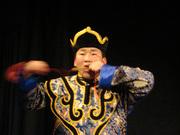 Tsogtgerel plays the Jew's harp, 2008