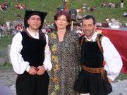 Kiva with 2 member of Tenores di Bitti (Sardegna)