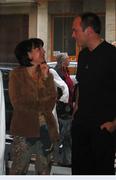 wolfgang saus bei der vernissage in der galerie hexaone 2004