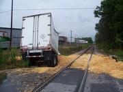 train wrecked truck
