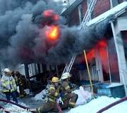 Fire on 1st Street Stroudsburg