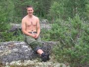 Taking a rest after kayaking