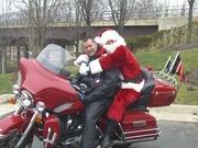 Santa is lovin' on Capt. Lewis