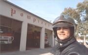 Sharon, pompier de Castelnaudary