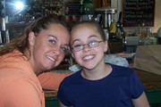 My daughter and  I in the soda shop in Bandera, Tx.