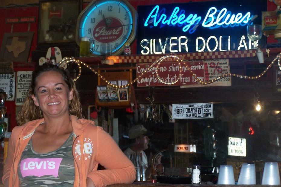Me in Arkey Blues Bandera, Tx.  A true country bar!!!