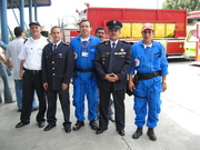 EMERGENCY OFFICER AND RED CROSS FRIENDS