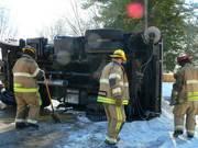 TDOT Salt Truck Overturned