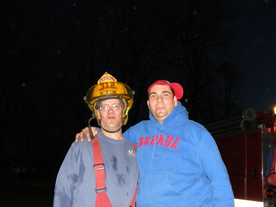 Lt. Doug and I goofing off!
