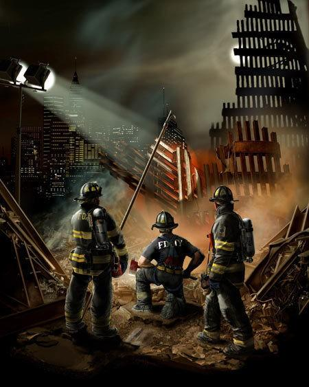 FDNY 911 Memorial Painting