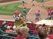 Sparky At The Guns And Hoses Game