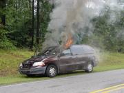 Car Fire on Church Street