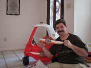 Friday- Daddy Building New Fire Truck