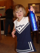 my daughter is so well trained... go cowboys!