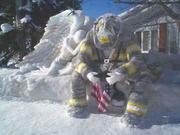 snow fireman and angel